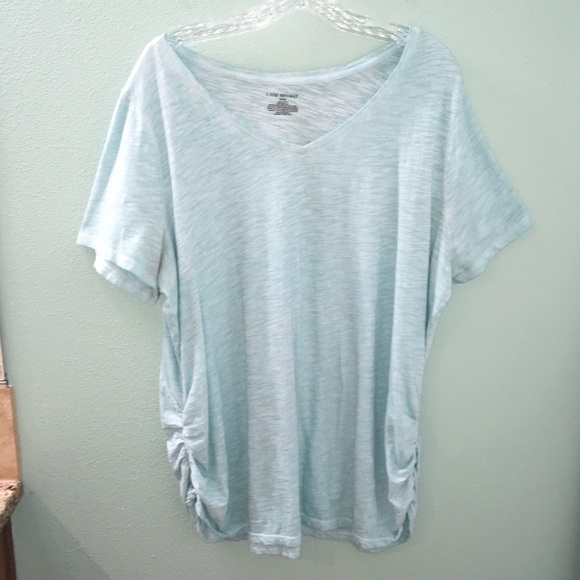 63746089d7a272 Lane Bryant Tops | Womens Short Sleeve Tee With Ruching | Poshmark
